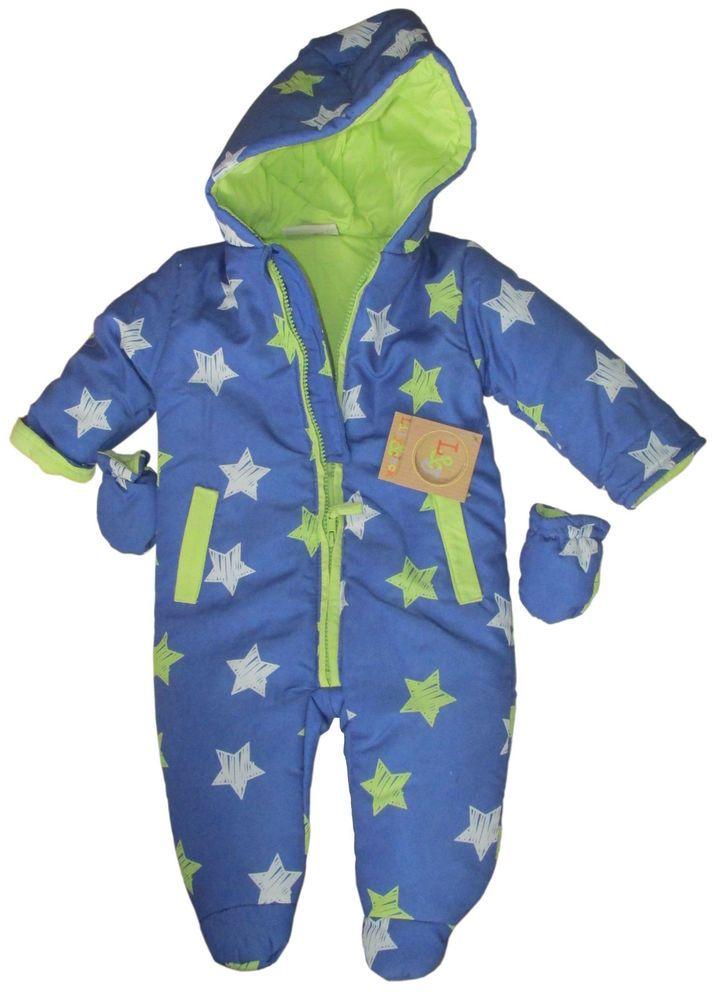 42fec674ea63 Details about Pram Suit Blue Stars Lily   Jack 3-6 months NWT ...