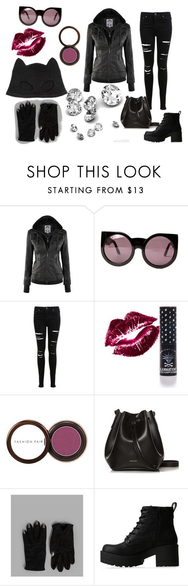 """Catwoman outfit"" by chiroptera-nyxx ❤ liked on Polyvore featuring Wildfox, Miss Selfridge, Manic Panic NYC, Fashion Fair, Rachael Ruddick, Majesty Black, Lipstik, Silver Spoon Attire, meow and diamonds"