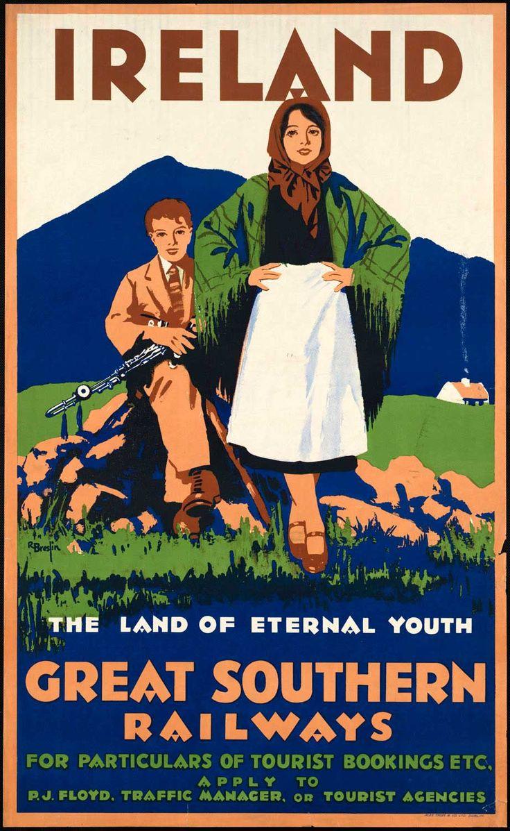 Vintage travel poster for Ireland