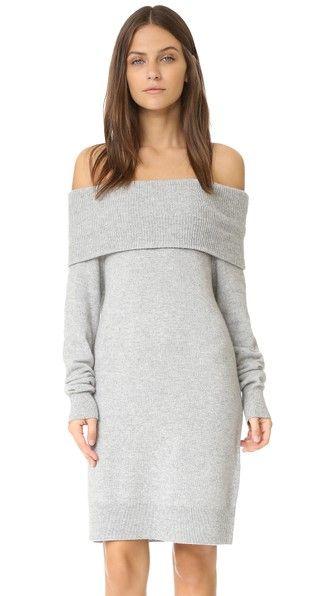 T by Alexander Wang Cashwool Off Shoulder Dress