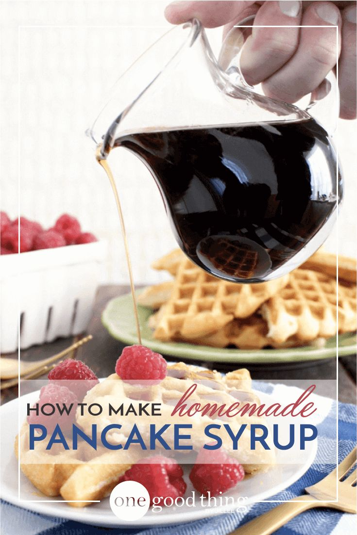 Learn how to make homemade pancake syrup, just like your mom used to. It's incredibly inexpensive, and tastes better than the store-bought stuff!