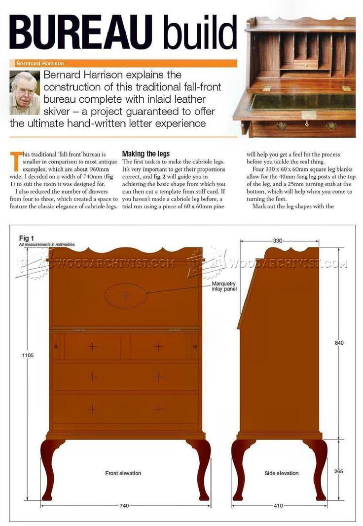 Fall Front Bureau Build - Furniture Plans