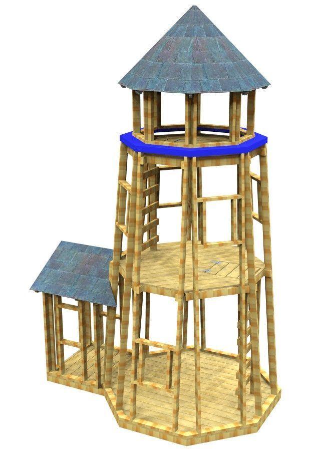 Little Lighthouse Playhouse Plan Build A Playhouse Play Houses Playhouse Plan