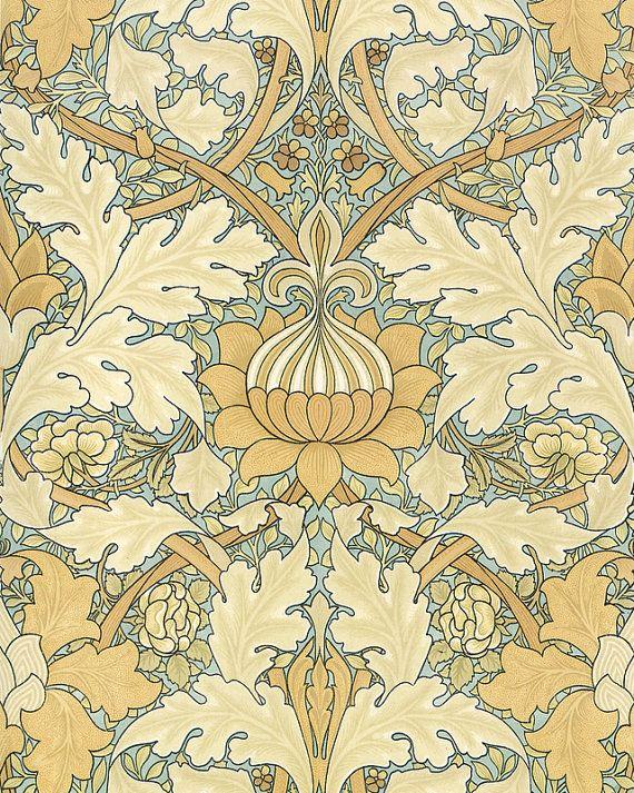 William Morris Wallpaper Design Plate 11 Art by BelleMaisonArt