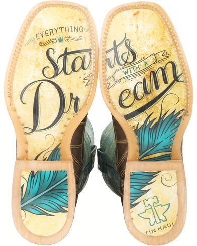 Tin Haul Dreamcatcher Cowgirl Boots - Square Toe | Sheplers