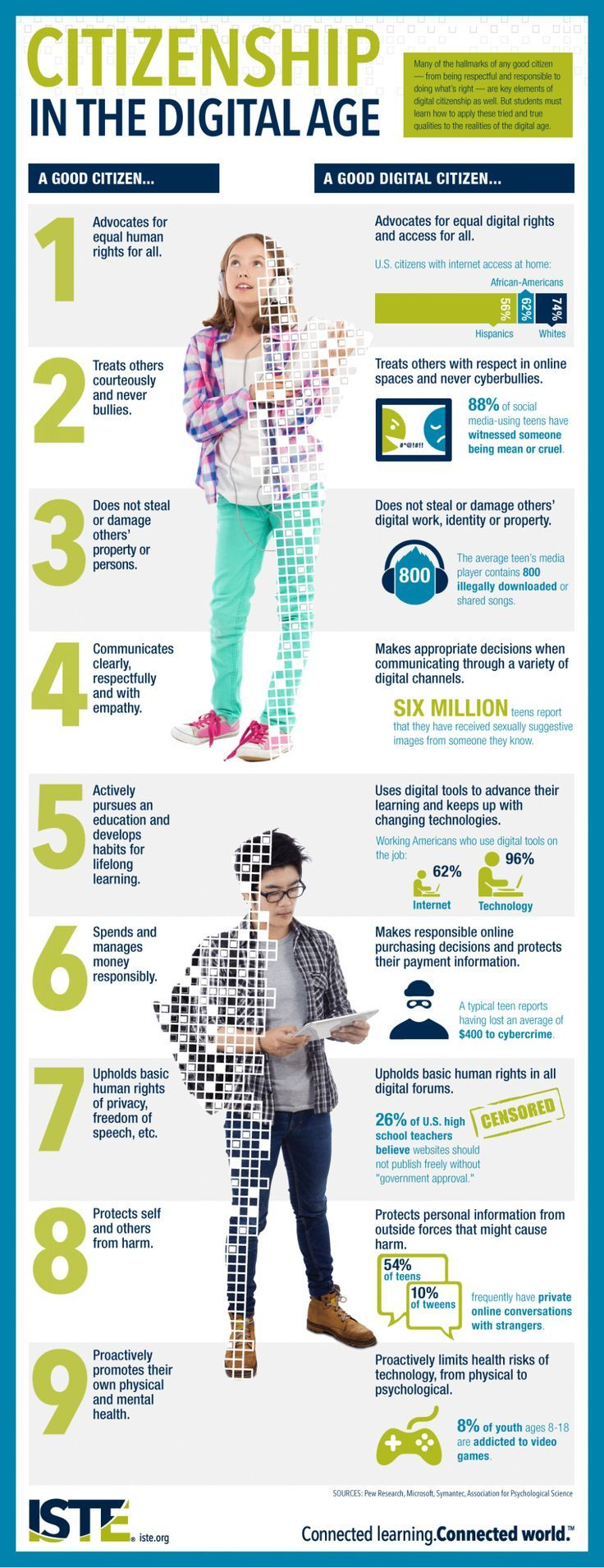 Being a good citizen and a good digital citizen go hand-in-hand. Image via @istepinterest