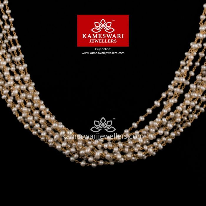 Buy Chain Online | Elegant Pearl Bunch from Kameswari Jewellers | Gold  necklace simple, Jewelry design necklace, Wedding jewellery collection