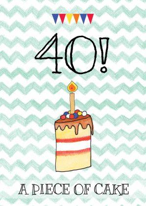 leeftijd kaart taart - Verjaardagskaarten - Kaartje2go