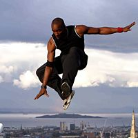 """Sebastien Foucan is shown """"free running,"""" a liberating experience centered on free expression that, for him, distinguishes it from """"Parkour."""" It's an art form with a deep philosophical background steeped in the mystic traditions that govern the Oriental arts."""