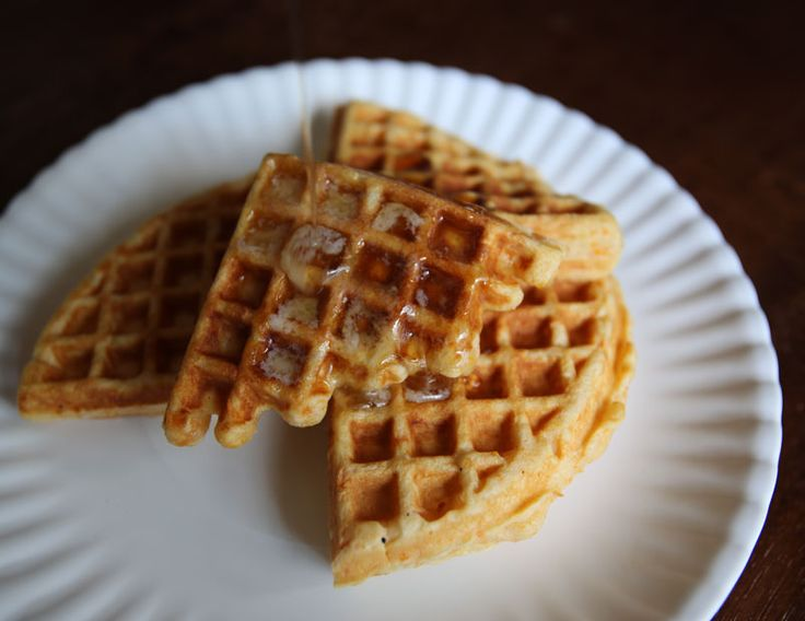 Alton Brown's Sweet Potato Waffles Recipe I was actually thinking about making these the other day, then this link showed up on my Facebook feed.