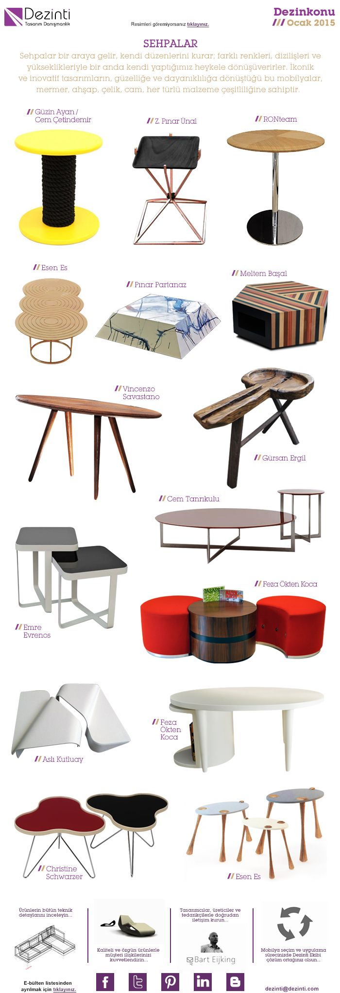 Side Tables http://www.dezinti.com/kategori/masalar/sehpa