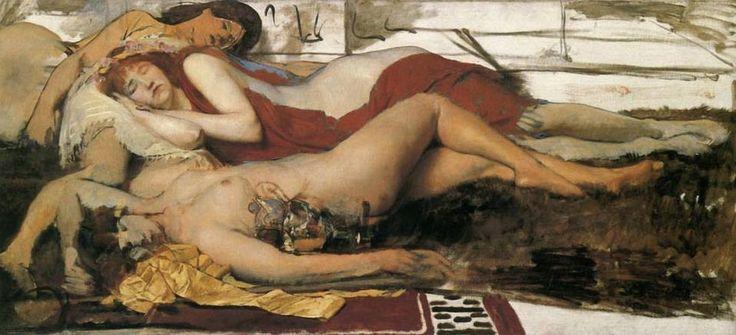 Sir Lawrence Alma-Tadema, Menadi esauste dopo la danza