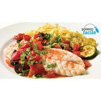 Filet de sébaste aux tomates et aux olives | Recettes IGA | Poisson, Basilic, Recette rapide (Recipe in French)