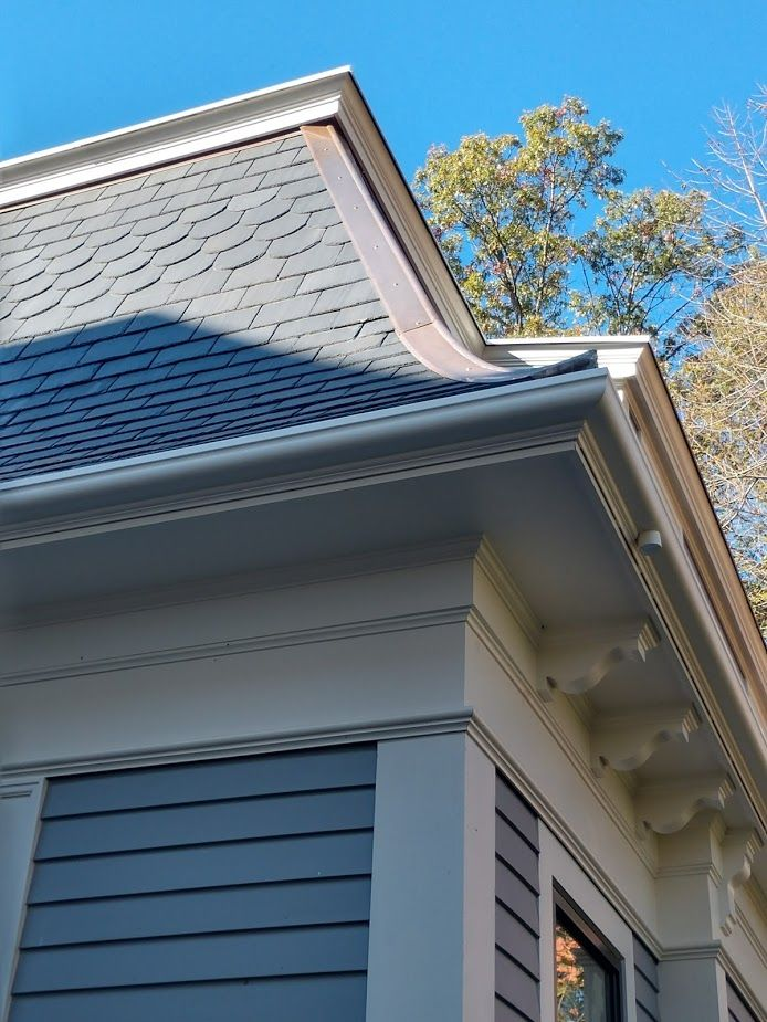Fibergutter Fiberglass Rain Gutter Installation In Newton Massachusetts Gutters Pergola Plans Design Historic Renovation