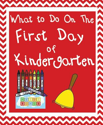 What To Do on the First Day of Kindergarten | Heidi Songs