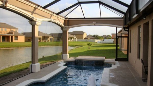 Pool Screen Enclosures Orlando - NO BLOW DOWN WARRANTY - Florida Pool Enclosures and Screenrooms and Hurricane Proof Patio Enclosures with Florida Powerbeam and CAPEA by Summertime Screen.