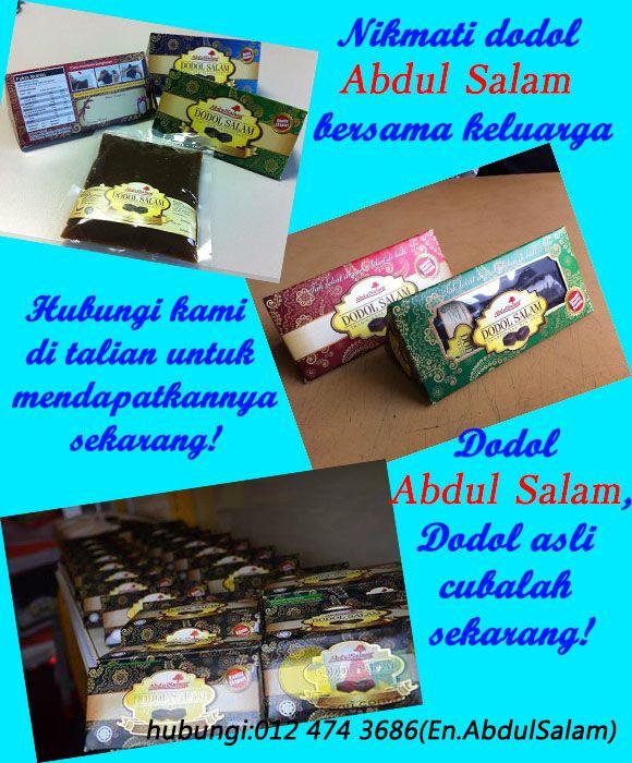 Dodol Abdul Salam yang sememangnya asli dan halal. Dapatkannya sekarang di pengedar kami berdekatan anda!