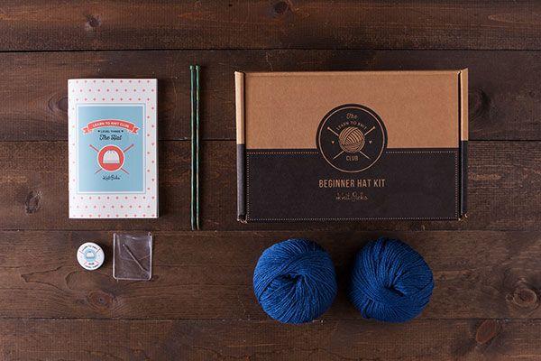 Learn to Knit Club, Level 3: Hat - Blue  *Afflink*