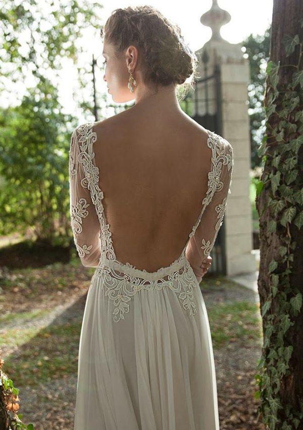 Vestido de noiva de Berta Bridal. #casamento #vestidodenoiva #costas