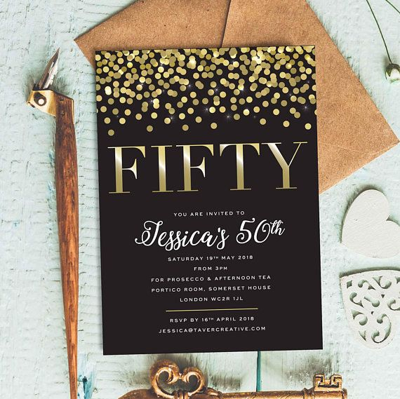 Forty. Men Black and gold invite Instant download Easy to edit 40th Man birthday party invitation Editable Forty Birthday invitation