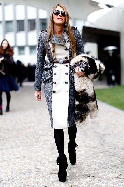 Street style: Coat with belt