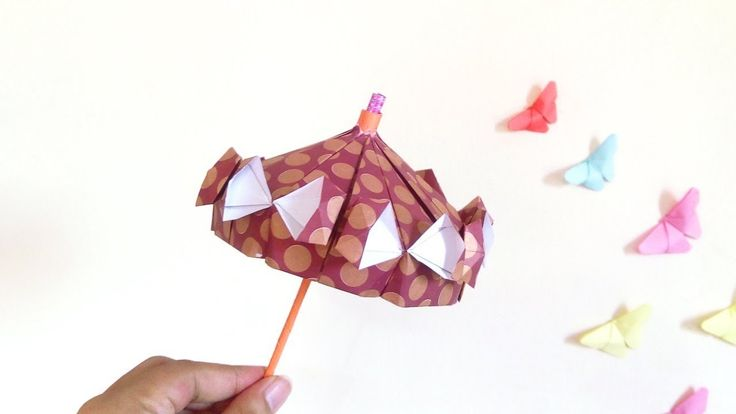 how to make small umbrella with paper