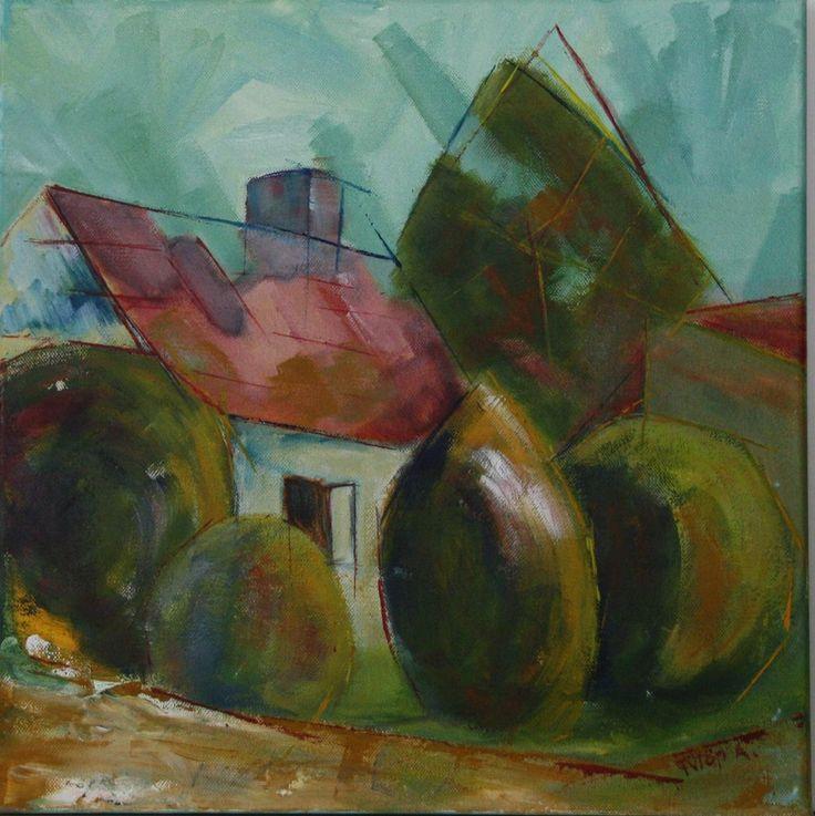 Őrség - country house canvas 40x40cm