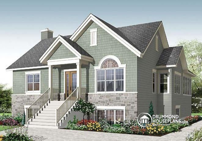 W3117 v1 affordable 4 bedroom craftsman style with for Affordable bungalow house plans