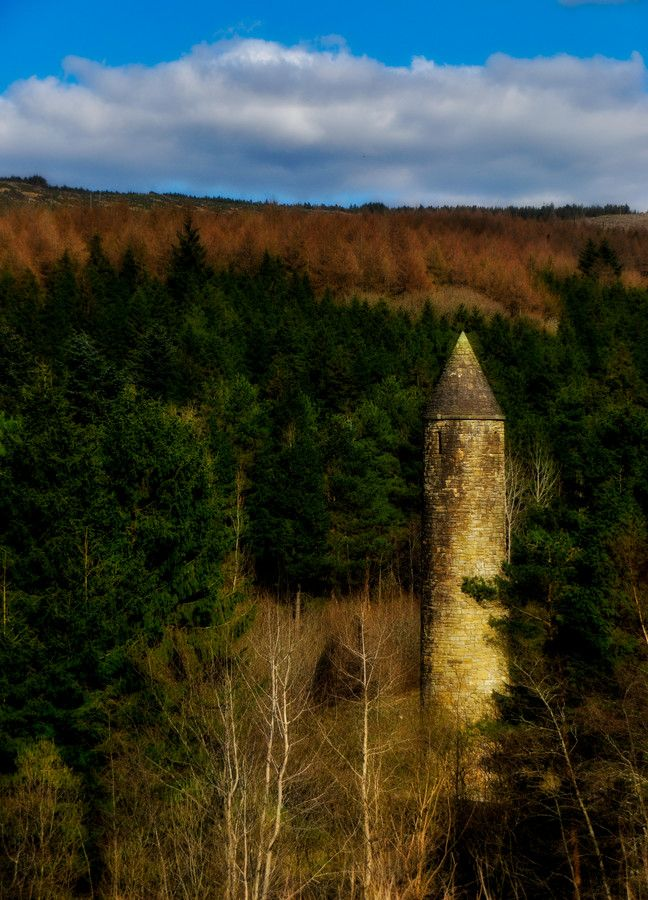 Tower Deep in the Forests of Omagh Ireland