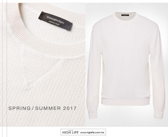 Hecho en Italia con mezcla de cachemira y seda de alta calidad, este suéter es un aliado preciso para el clima caluroso primaveral. #ZZegna