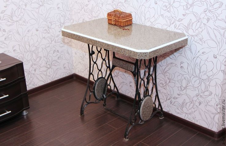 """Купить стол из искусственного камня """"Восьмиугольный"""" - коричневый, стветло-коричневый, кофейный, черный, стол"""