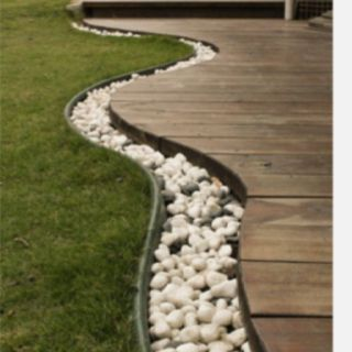 Idea for walkway to the storage room.                                                                                                                                                     More
