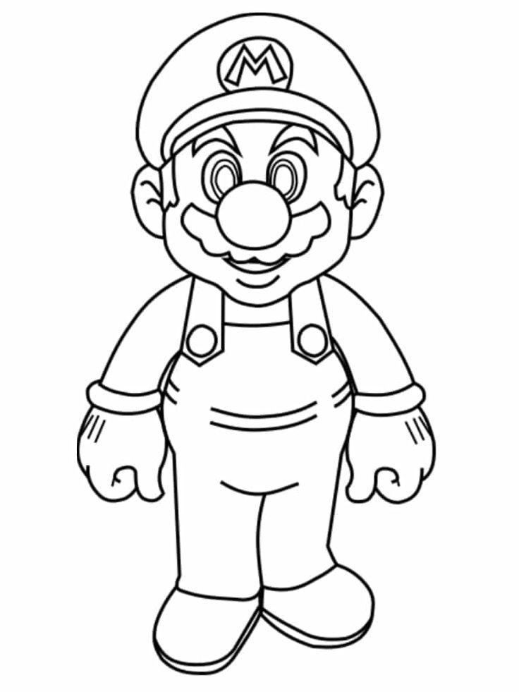 Coloriage Mario A Imprimer Des Dessins Gratuits Du Jeu Video