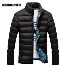 Mountainskin hombres chaqueta de invierno 2017 marca casuales para hombre chaquetas y abrigos chaqueta gruesa parka hombres outwear 4xl masculino clothing, eda104(China (Mainland))