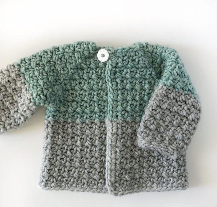 crochet mesh stitch baby sweater - Daisy Farm Crafts    #crochet #crochetpattern #freecrochetpatterns