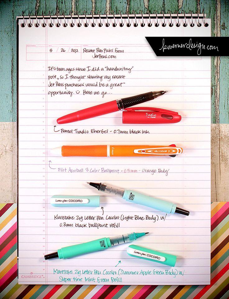 Yes im a nerd. Love shopping for School supplies! Lol Recent Pen Picks from JetPens.com