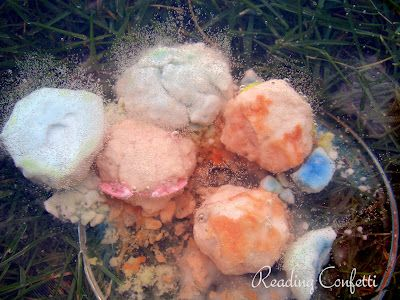 Dissolving rocks that you can put things inside. Fun Science program ideas for Fizz Boom Read Summer Reading 2014