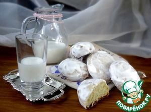 Пряники творожно-мятные.      Мука — 350 г     Творог — 250 г     Сахар тростниковый (Демерара от Мистраль) — 80 г     Масло подсолнечное — 50 мл     Сода гашеная уксусом — 1 ч. л.     Ароматизатор (мятное масло, 2-3 капли)     Яйцо куриное — 1 шт  Глазурь      Сахарная пудра (200 мл) — 1 стак.     Белок яичный — 1 шт     Ароматизатор (мятное масло, 2 капли)