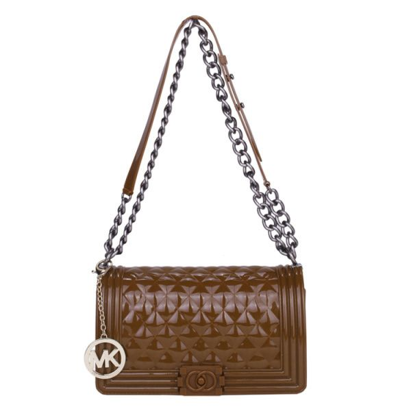 Michael Kors Sloan Logo Medium Coffee Shoulder Bags