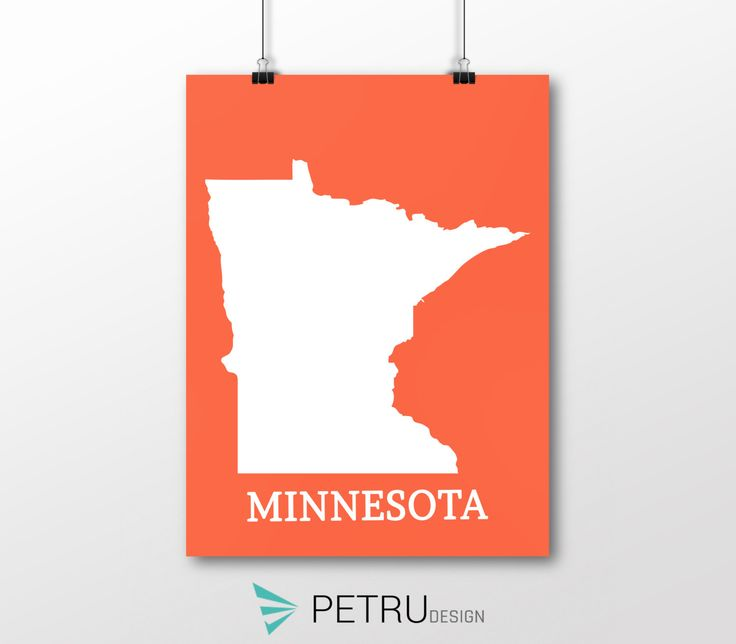 Minnesota print - Minnesota art - Minnesota poster - Minnesota wall art - Minnesota printable poster - Minnesota map - Minnesota Sunset art by Exit8Creatives on Etsy