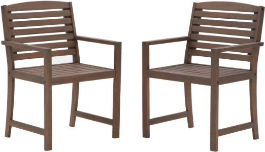 Strathwood Vashon Hardwood Dining Arm Chair, Set of 2 2 for $145