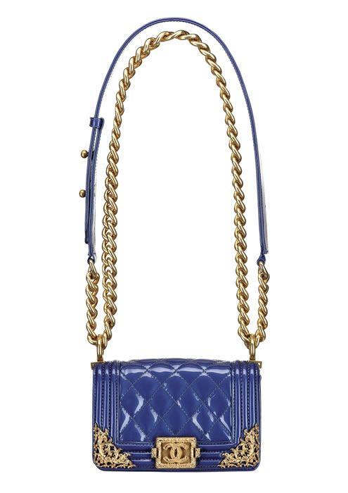 Chanel Royal blue patent leather BOY CHANEL bag