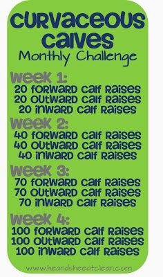 Monthly Challenge :: Curvaceous Calves 1-Month Challenge - He and She Eat Clean: A Guide to Eating Clean... Married!