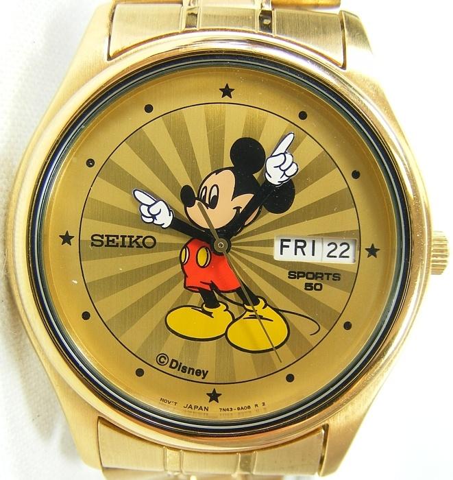 Rare Seiko Disney S Mickey Mouse Mens Bracelet Watch