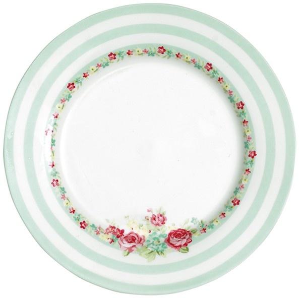 GreenGate Stoneware Plate Candy Mint D 20,5 cm