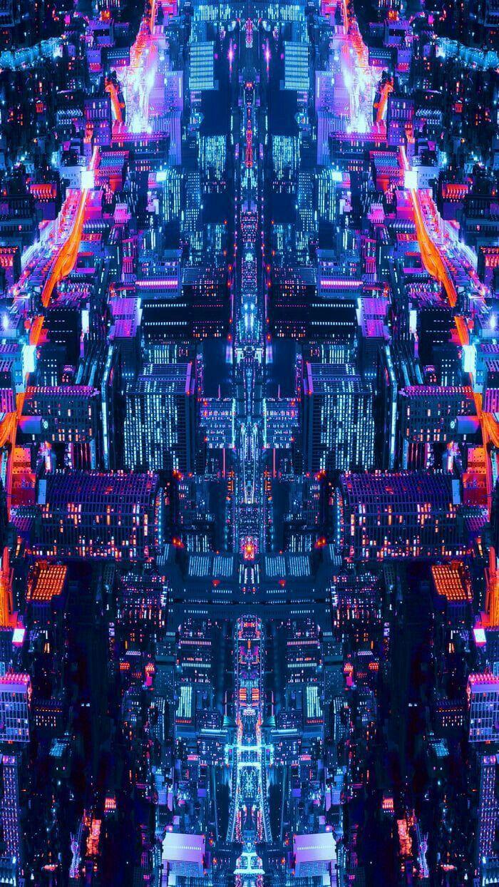 Nuit Sur Les Lumieres De La Ville Fond D Ecran Colore Fond D Ecran Telephone Paysage Nocturne