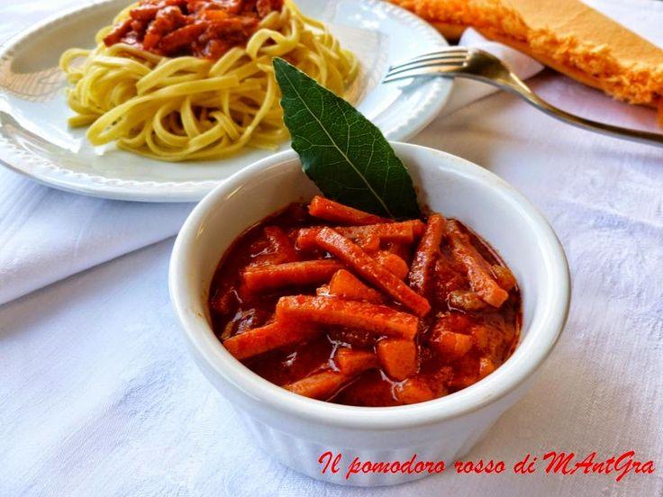Il Pomodoro Rosso di MAntGra: Bagna al giambon (Sugo al prosciutto)