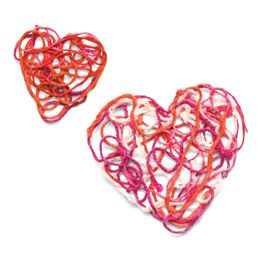 Sticky Hands, Warm HeartsValentine'S Day, Valentine Crafts, Ideas, Valentine Day Crafts, Kids Crafts, Yarns Heart, Warm Heart, Heart Ornaments, Sticky Hands