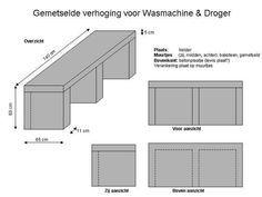 metselen verhoging voor wasmachine & droger