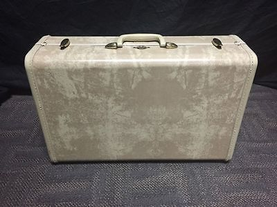 VTG SAMSONITE HARD CASE TRAIN CARRY ON SUITCASE YELLOW MARBLE COLOR